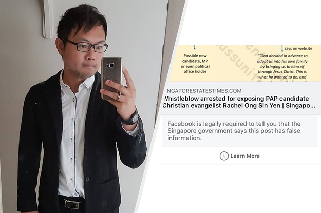 Facebook Issues Correction To Alex Tan's Post Under Singapore Fake News Law